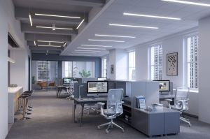 75Rock S030 Open Area 05 Tower Floor PB 2020 Safety + Flexibility = Sustainable Workplaces