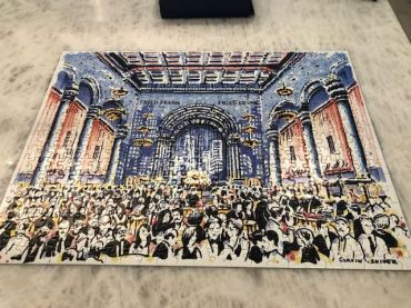 "Courtesy of Todd Kahn, Tapestry, Inc. - ""My Family and I loved working on the puzzle over the holidays. The food here wasn't as good as Cipriani and I won't admit to how long it took us to complete, but it did remind us of our friends and colleagues that we miss seeing in person. I am looking forward to next year and the extra hours I will regain!"""