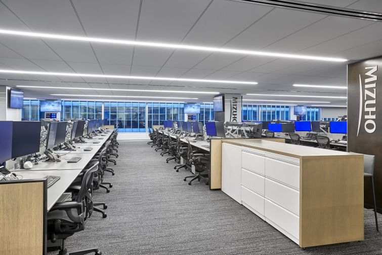 Much of the office will be large open trading floors that are vented from above to help absorb heat produced by employees' computers and multiple screens.