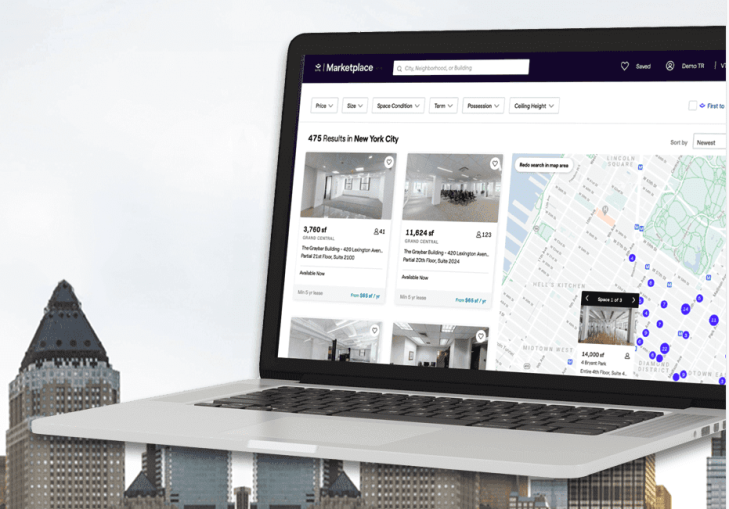 VTS Marketplace - a free digital listings and prospecting platform for brokers and landlords