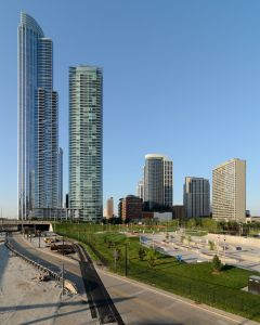 Chicago's South Loop neighborhood.