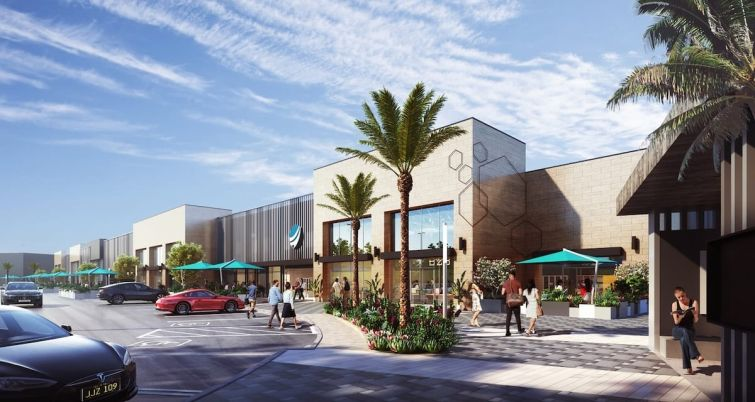 When complete, The Collection will include almost 50,000 square feet.