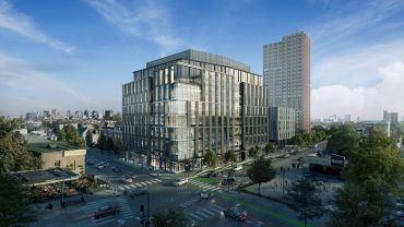A rendering for a new life sciences project Union Square Station Associates is developing in Somerville, Mass,