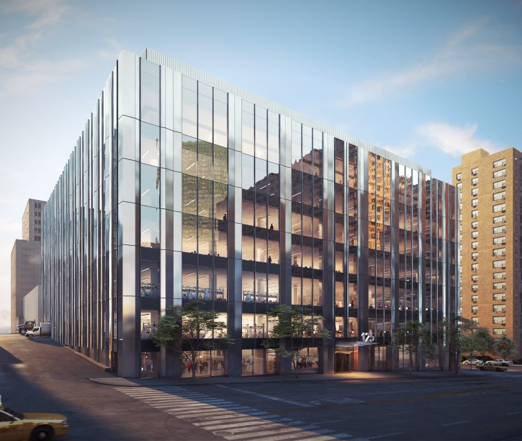 A rendering of 125 West End Avenue's exterior.