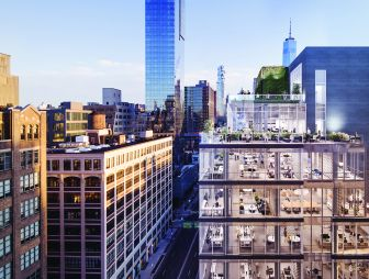APF Properties and Drake Street Partners doubled the size of 60 Charlton Street with a glass box addition.
