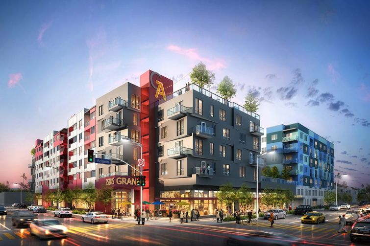Togawa Smith Martin designed the project, which is located about a half-mile from USC and Exposition Park