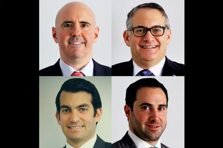 Ben Joseph, Gavin Evans, Andrew Miller and Bennat Berger