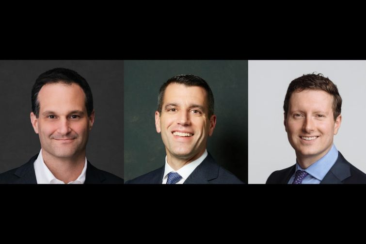 Austen Holderness, chief development officer at Carr Properties, Paul Teti, executive vice president of real estate operations for Columbia Property Trust and Mark Witschorik, a senior vice president of asset management at Jamestown.