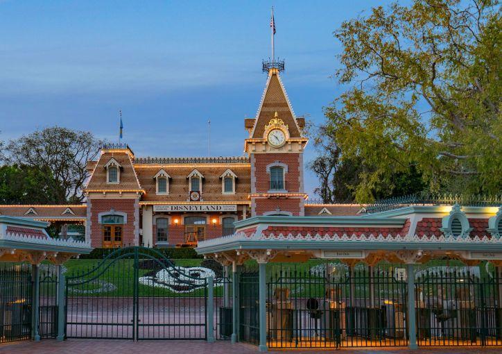 Disneyland theme park, still closed due to COVID-19 in Anaheim, California.