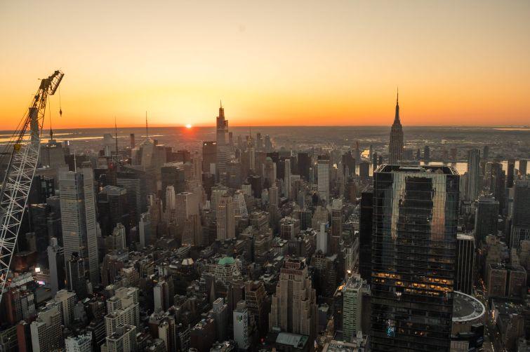 Sunrise Views of New York City from Edge At Hudson Yards