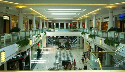 A shot of the interior of the Glenbrook Square mall in Fort Wayne, Ind.