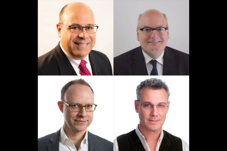 Clockwise from top left: New York University's David Alonso, Northeastern University's Gilbert Delgado, Ennead Architects' Tomas Rossant and Ennead Architects' Alex O'Briant.