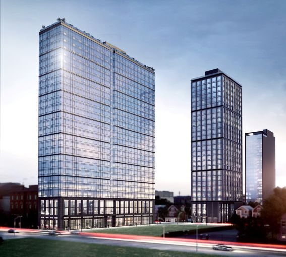 A rendering of Namdar Group's planned multifamily development in Jersey City, N.J.