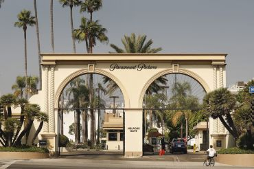 The Melrose Gate of Paramount Pictures Studio at 5555 Melrose Avenue in Hollywood.