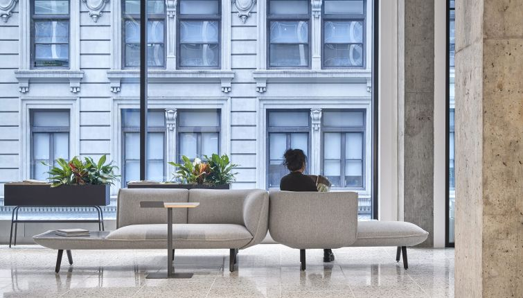 The new 18,000-square-foot studio has floor to ceiling windows overlooking the corner of 32nd Street and Broadway.