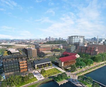 A rendering of the Port Covington development.