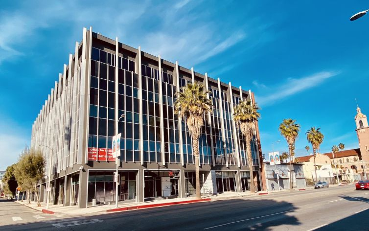 The five-story office is located at 6725 Sunset Boulevard.