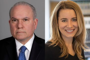 A man and a woman's headshots side by side.