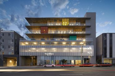 WeWork exited 925 North La Brea Avenue in Los Angeles, just south of Santa Monica Boulevard. Its lease was set to expire in June 2029.