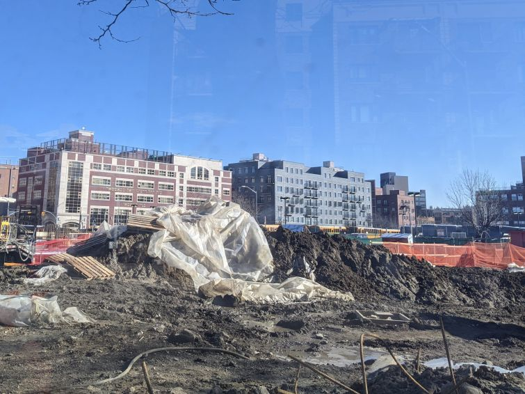 174 Harrison Avenue site, January 2021.