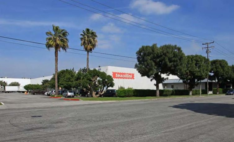 The Texollini property is on six acres at 2575 El Presidio Street in the city of Carson, Calif.