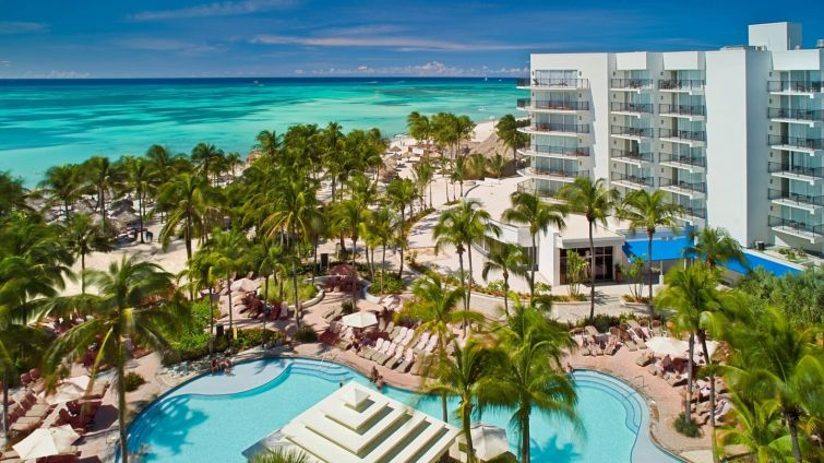 A $135 million commercial mortgage backed securities loan backed by the Aruba Marriott Resort was the largest deal transferred to special servicing in March.
