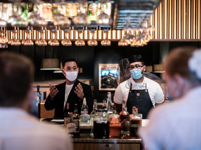 Cote's Simon Kim leading service inside the Miami restaurant. Photo: Marianne Fabre-Lanvin (MFL & Co.)