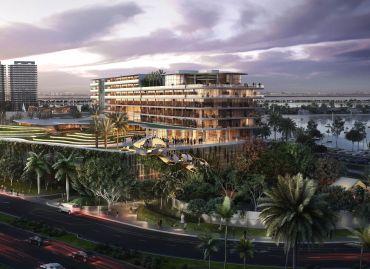 Rendering of Jungle Island's eco-resort.