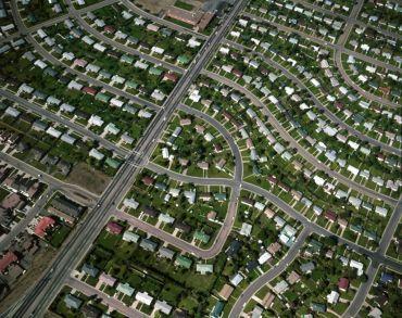 A dense suburban development.