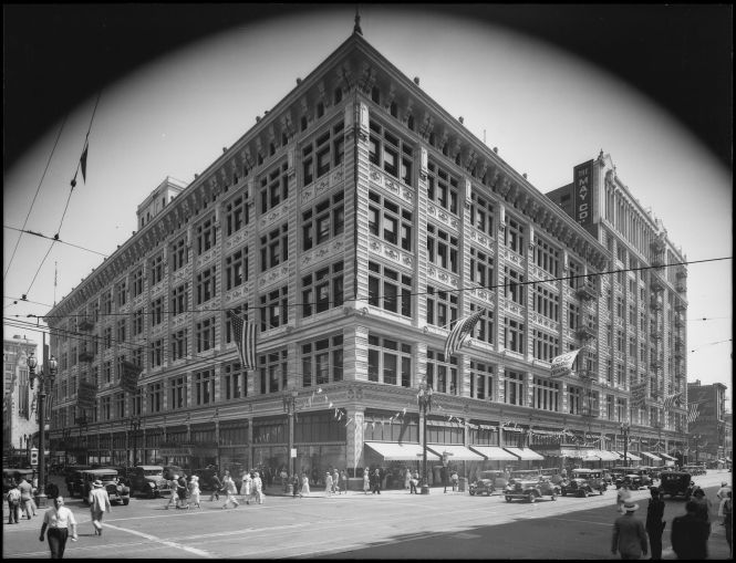 Photograph of exterior of building, 801 South Broadway, Los Angeles, California, 1931.