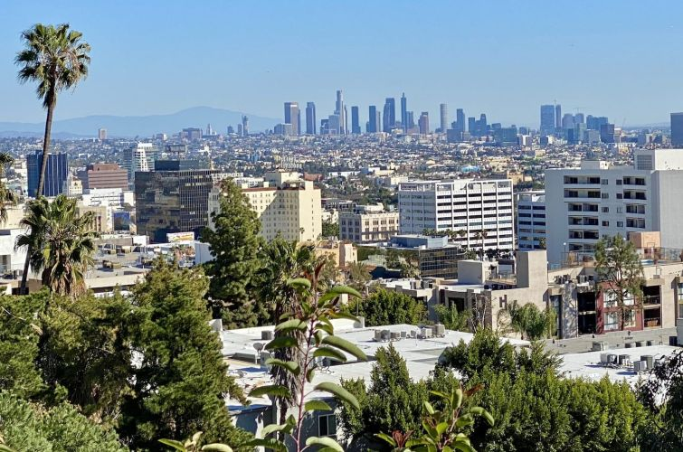 Los Angeles from Hollywood Hills.