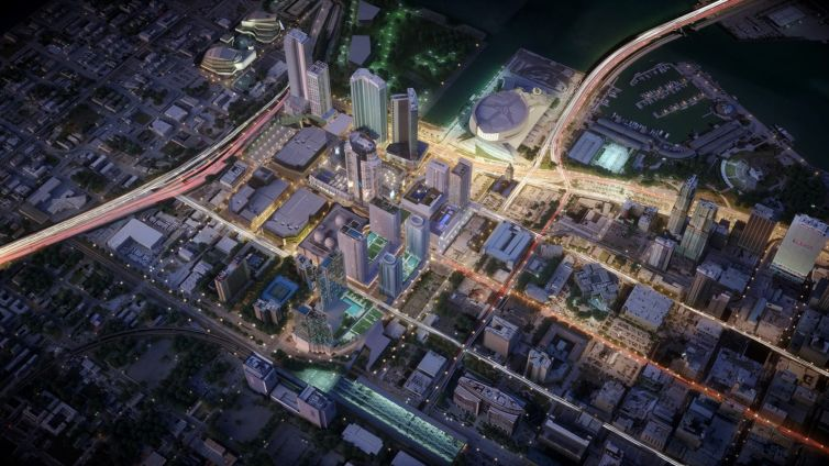 Aerial shot of Miami Worldcenter. Photo: Miami Worldcenter Associates