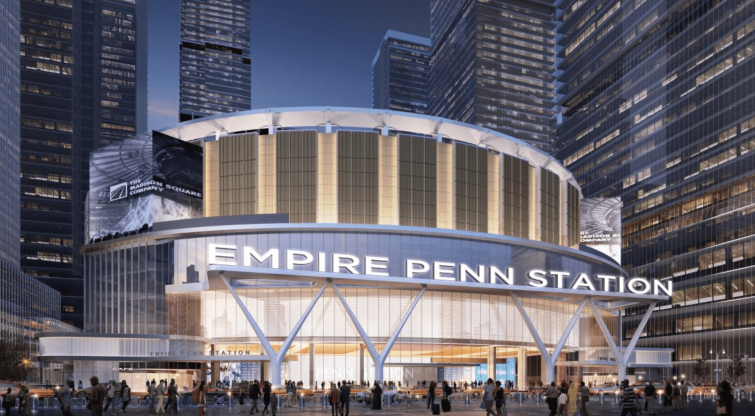 Buying part of Madison Square Garden could enable a new entrance.