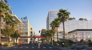 Concept rendering of Television City redevelopment in L.A.'s Fairfax District.