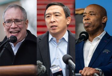 Scott Stringer, Andrew Yang, Eric Adams