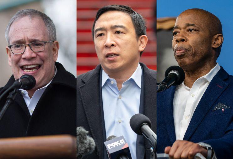 Scott Stringer, Andrew Yang, Eric Adams