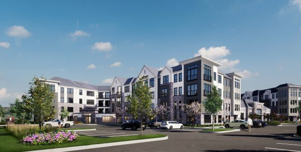 A rendering of The Residences at Mountainview.