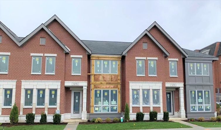 Completed units at Gateway Northbrook in Northbrook, Ill.