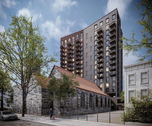 A rendering of 230 Classon Avenue.