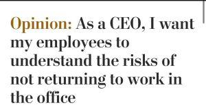 The original headline of Cathy Merrill's op-ed.