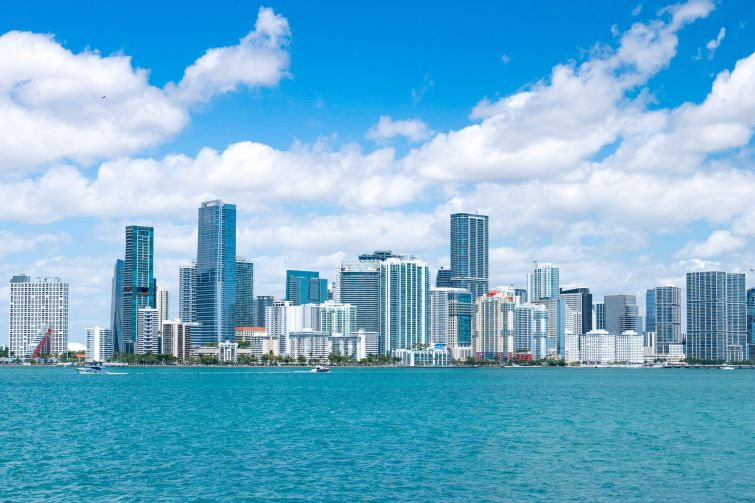 View of the Downtown Miami skyline.