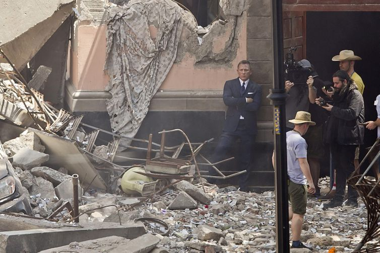 Daniel Craig filming for James Bond. With the historic library from MGM Studios, Amazon gains name-brand movie franchises like Rocky and James Bond.