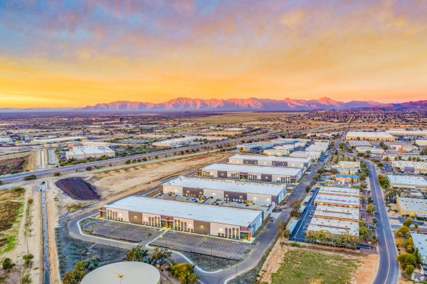 An aerial view of JLLIPT's Southeast Phoenix Distribution Center, formerly known as Lotus Project Phase I.