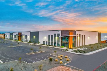 The front of one of the four buildings that make up Lotus Project Phase I, which will now be called Southeast Phoenix Distribution Center.