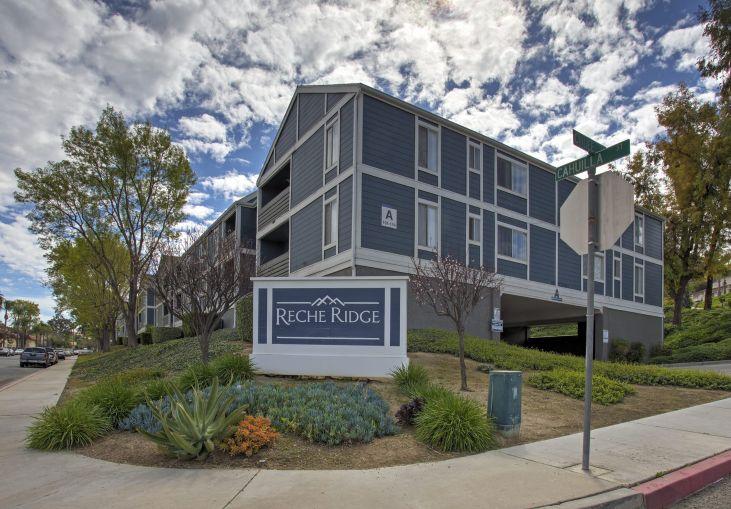 Reche Ridge is a three-story, Cape Cod-style community at 2270 Cahuilla Street.