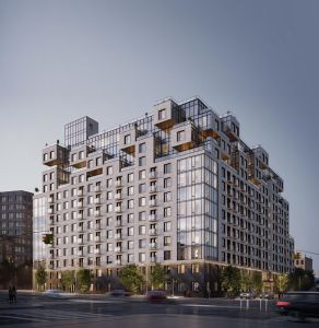 A rendering of 260 Gold Street.
