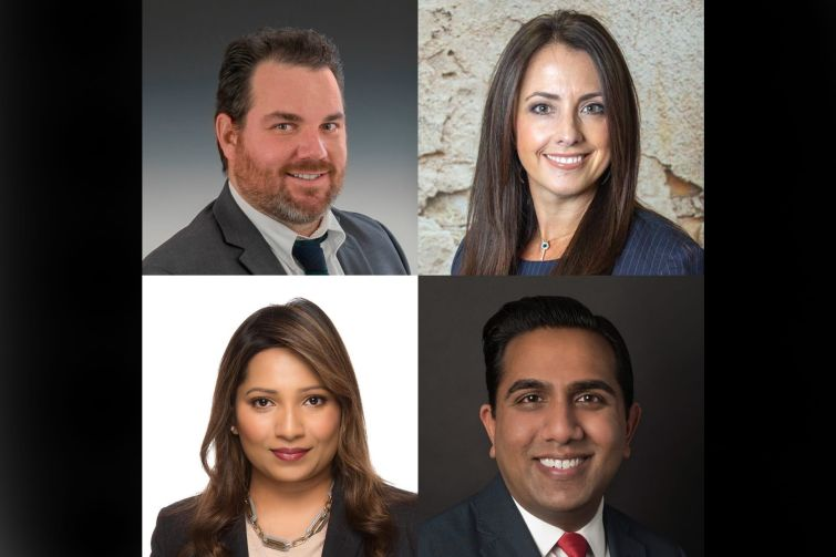 Commercial Observer's transportation forum kicked off with a panel of Alan Bates from Holt Construction, Alexandra Perotti, also from Holt, Asmita Gharat of American Airlines and Hersh Parekh of the Port Authority.