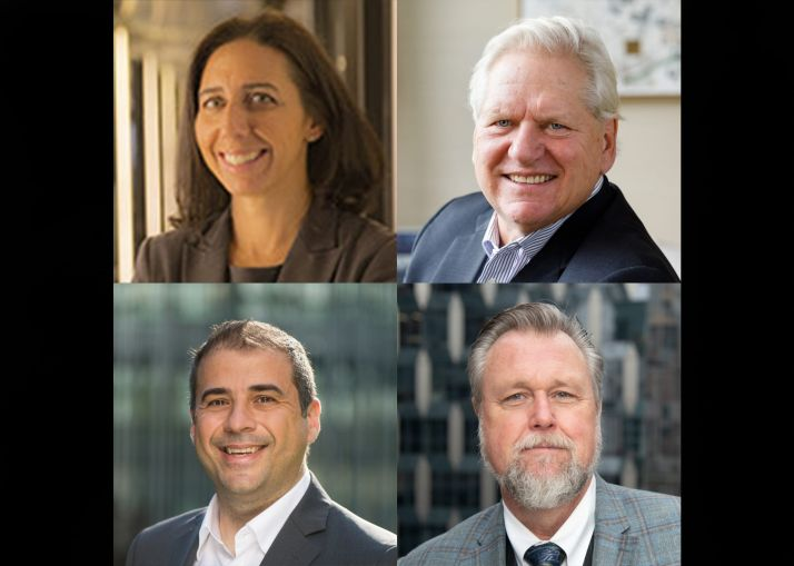 Jessica Rothman of Ingram Yuzek Gainen Carroll & Bertolotti, John Gilbert III of Rudin Management, Christopher Norris of Cauldwell Wingate and Spiro Kremmidas of KPFF.