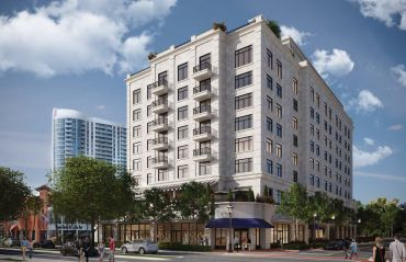 Rendering of a hotel planned at 1007 East Las Olas in Fort Lauderdale.