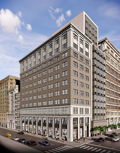 A look at the updated exterior for 149 Madison Avenue.